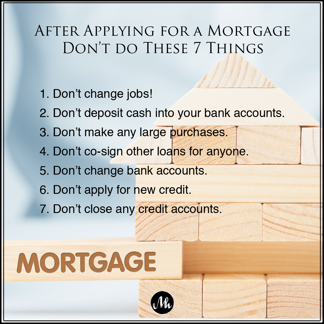 Mortgage Don'ts