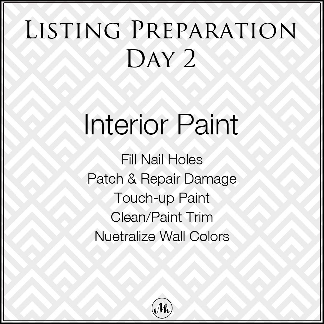 Listing Preparation Day 2