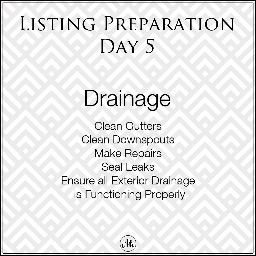 Listing Preparation Day 5