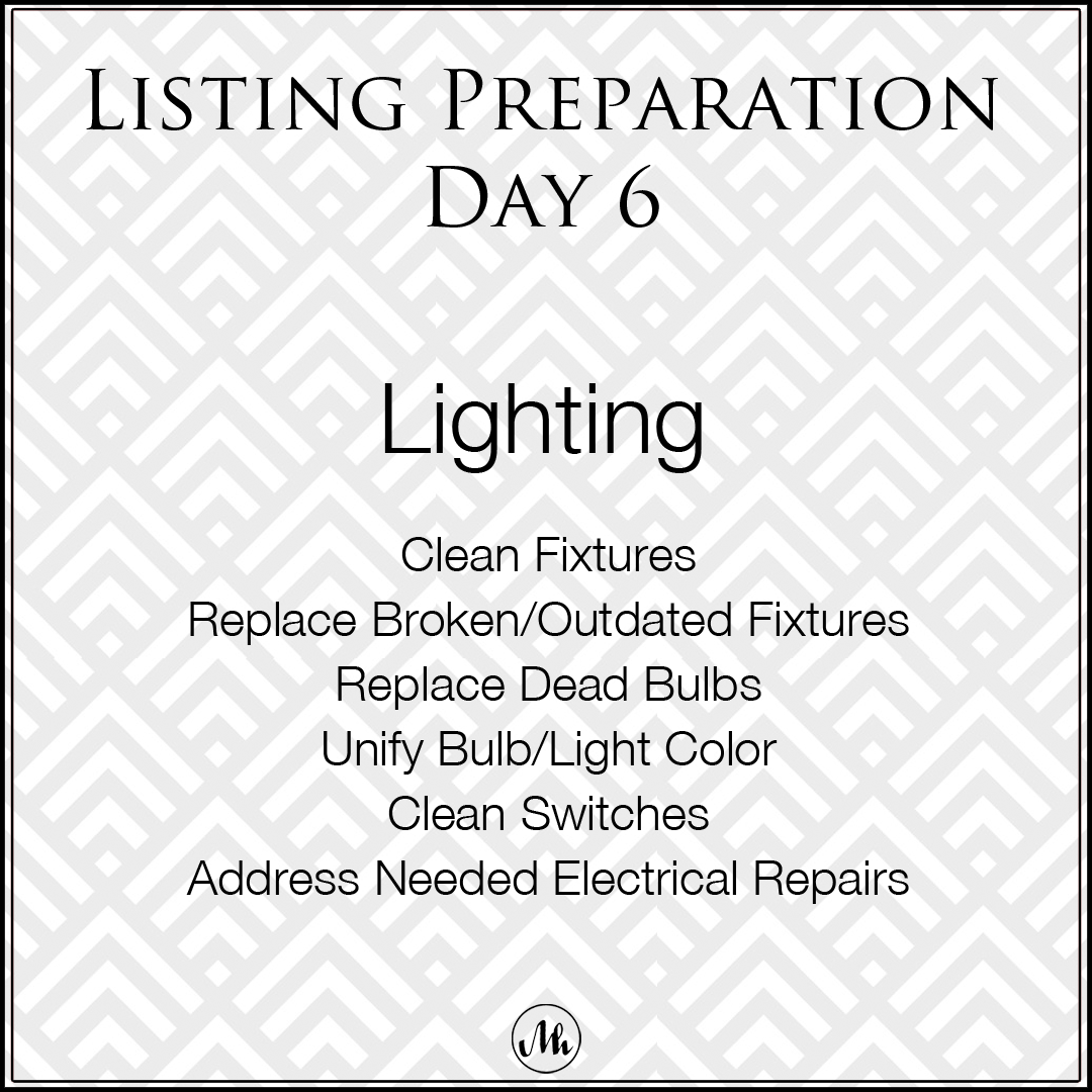 Listing Preparation Day 6
