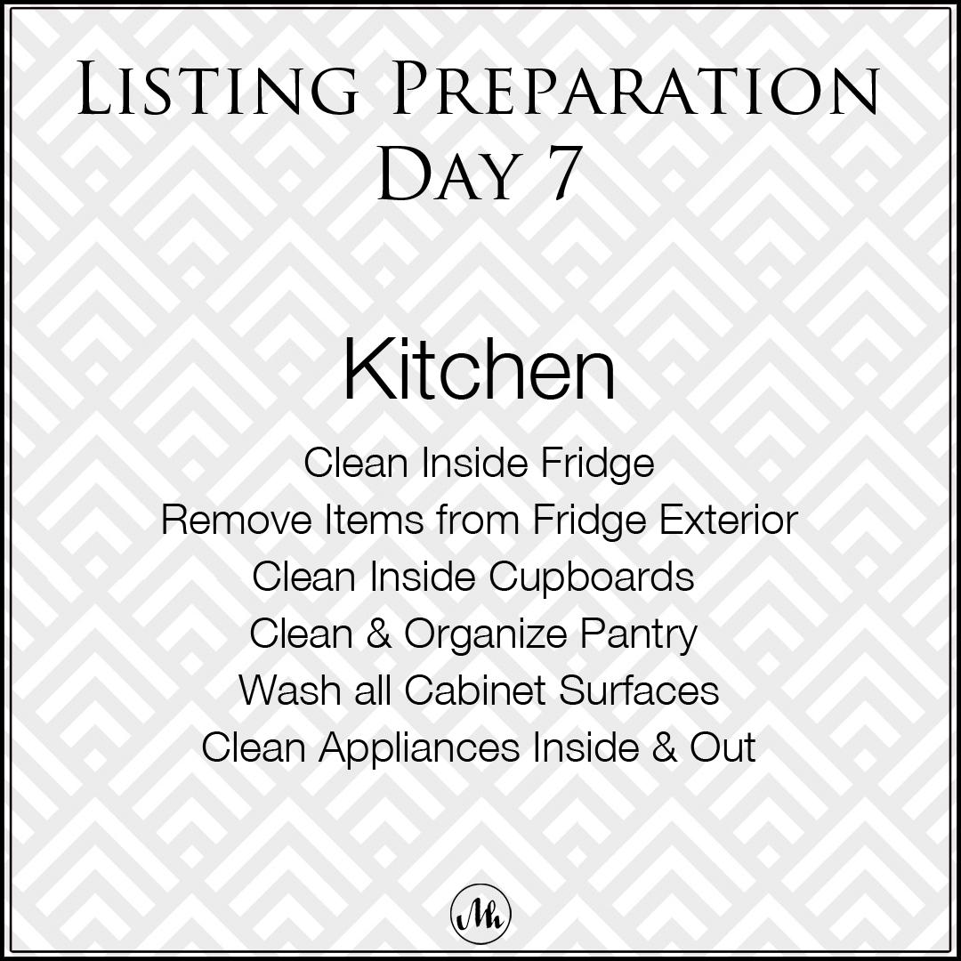 Listing Preparation Day 7