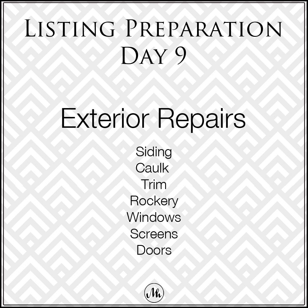 Listing Preparation Day 9